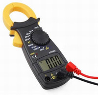 Wholesale Digital Ac Dc Clamp Meter - Free Shipping 1 Piece AC DC Multimeter Electronic Tester Digital Clamp Volt Meter Ohms Large Display