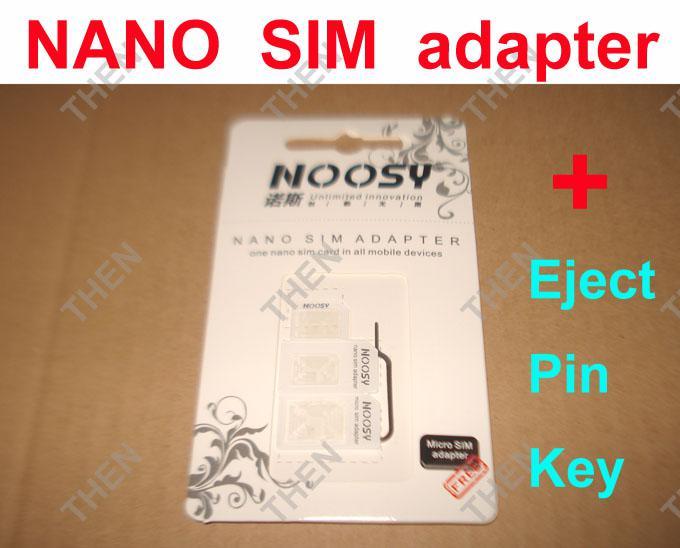 4 في 1 نانو سيم بطاقة محول ، Noosy مايكرو سيم محول مع / دبوس مفتاح