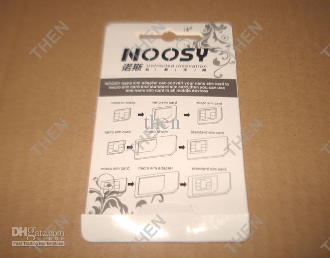 4 في 1 نانو سيم بطاقة محول ، noosy مايكرو سيم محول مع إخراج دبوس مفتاح آيفون 5 5 ثانية 5c 6 6 زائد 3000 مجموعات / وحدة