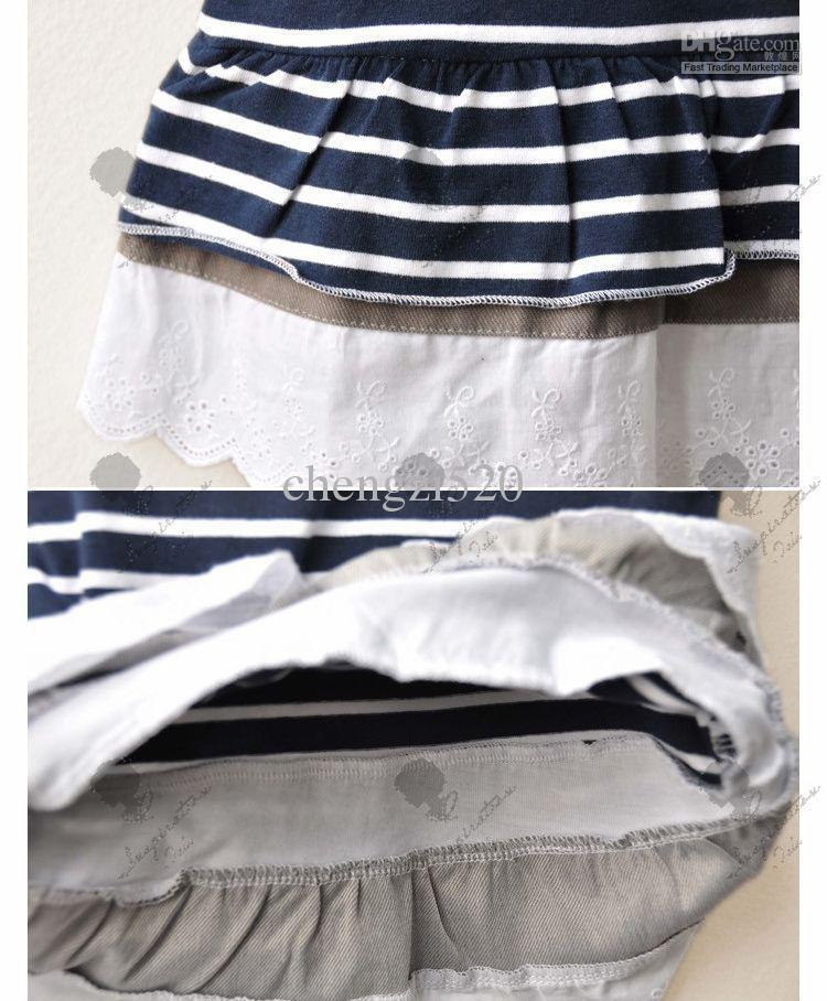 Meninas Marinha Arcos Vest Vestidos Vestidos Sem Mangas Roupas Infantis