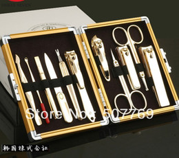 gold silver manicure set Nail clipper set cut nails