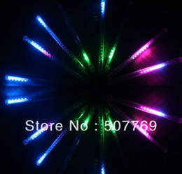 Wholesale Shower Curtain Lights - Tube 50cm 8Tubes set Garden decoration hotel Icicle decorative meteor shower LED lights Tail prolong