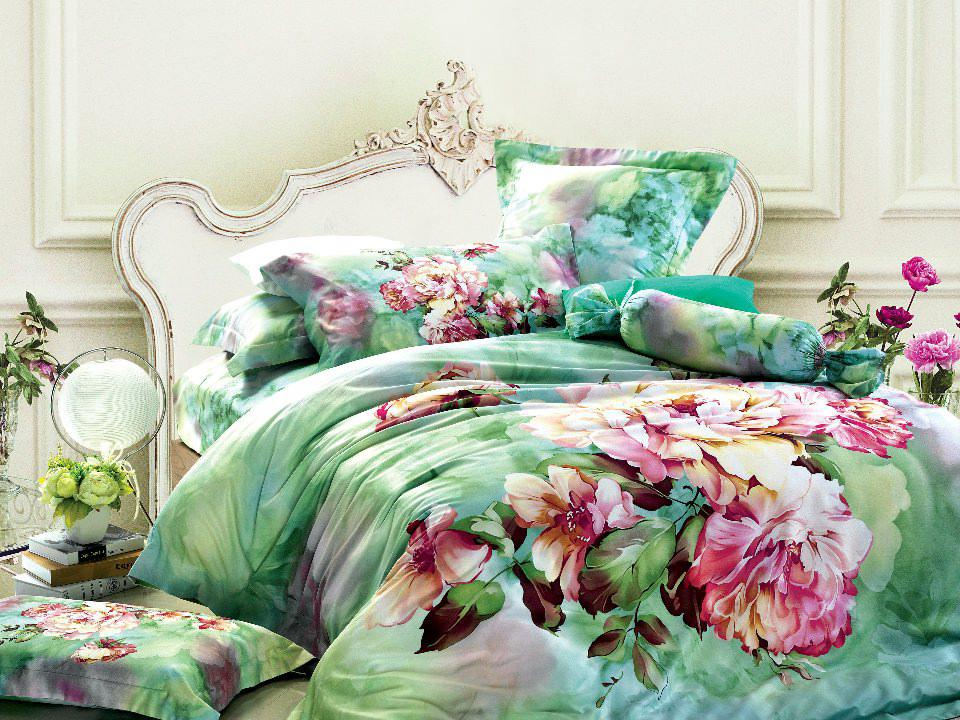 Superior Green Floral Bedding Comforter Set Sets Queen King Size Duvet Cover  Bedspread Sheets Bed In A Bag Sheet Quilt Linen 100% Cotton Bedclothes  Bedsheet Bedroom ...