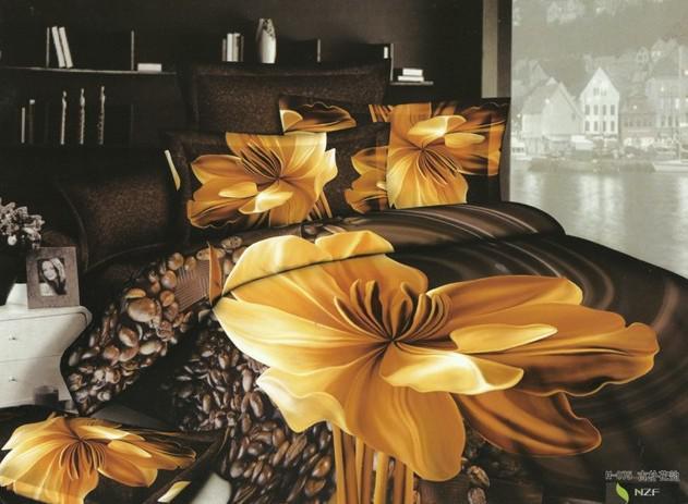 dark brown yellow floral bedding comforter set sets queen