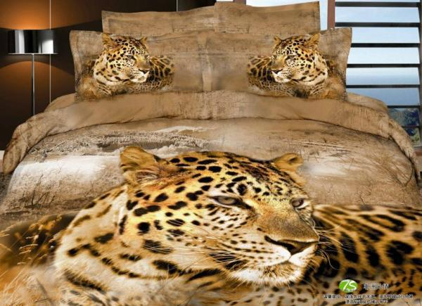 3d Brown Tiger Animal Print Bedding Comforter Set Sets