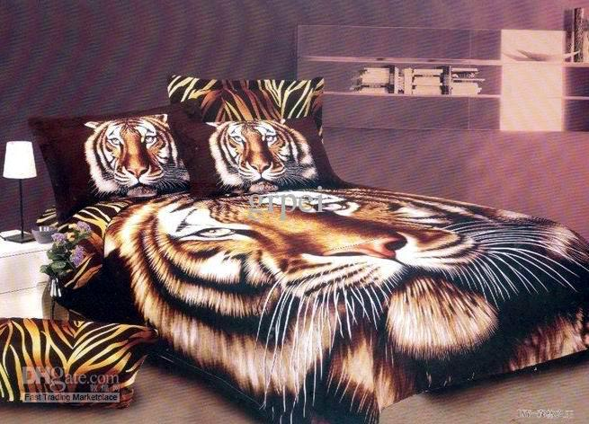 3d Tiger Animal Print Bedding Comforter Set Sets For King