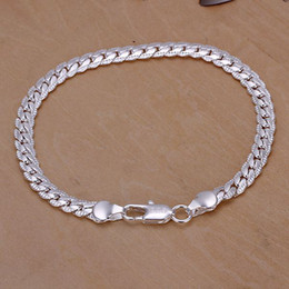 Wholesale Silver Snake Chain 5mm - 10pcs best Quality Charm 925 silver fashion women lady nice noble jewelry hot Noble 5MM snake Chain Bracelet H199