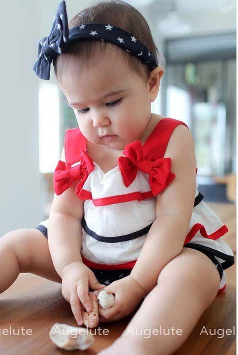 Bébé Bowknot Cheveux Accessoires Filles Débardeurs Infantile Casual Shorts Enfants Ensemble Enfants Costume Tenues
