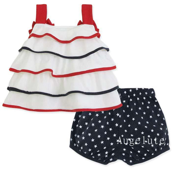 Baby Bowknot Accessori capelli Ragazze Canottiere Pantaloncini corti bambini Set di abiti bambini