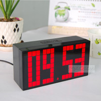 Multifuntional Large Big LED Jumbo Alarm Wall Clock Table tablette Table numérique Calendrier Weather Countdown Timer Horloge température