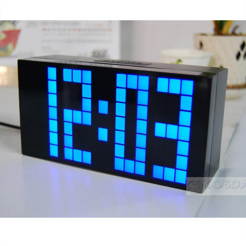 2018 Large Jumbo Led Clock Display Alarm Wall Digital