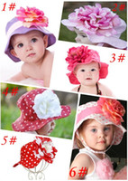 Wholesale Doomagic Girls - 12pcs Doomagic Baby Girl Floppy Clinton Sun Hat Detachable Flower Kids Summer Caps Children Headwear