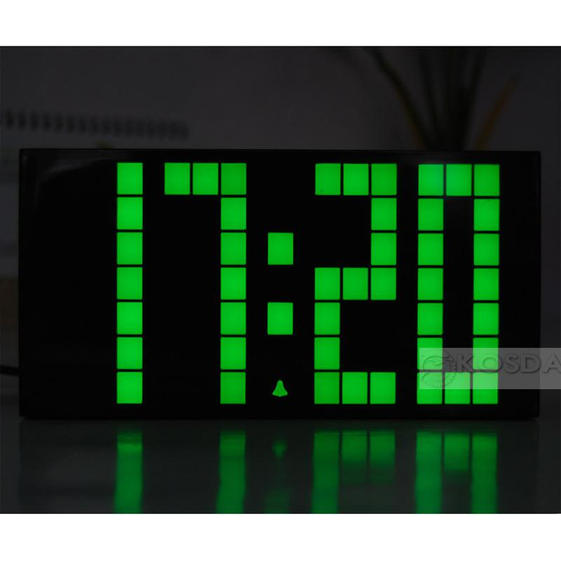 2019 Large Jumbo Led Clock Display Wall Digital Green