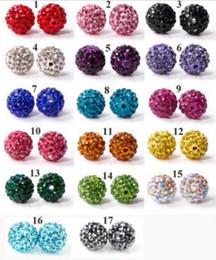 Wholesale Swarovski Disco - EMS* 100pcs Swarovski Crystal 10MM DIY Clay Spacer Beads FOR Pave Rhinestone Disco Balls Beads