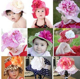 Wholesale Doomagic Baby Hats - 3pcs Doomagic Baby Girl Floppy Clinton Sun Hat Detachable Flower Kids Summer Caps Children Headwear