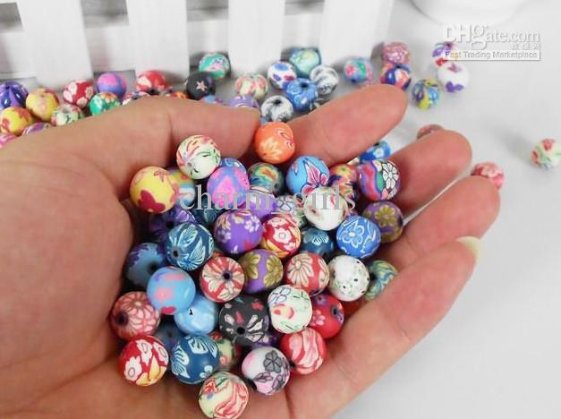Perline di argilla polimerica perle miste 10mm argilla gioielli raccordi argilla perline sparse spedizione gratuita 1000 pz