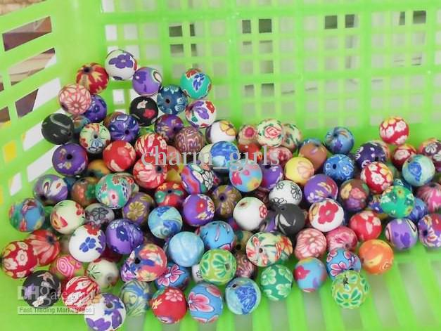 200 pz Rondelle Handmade Polymer Clay Fimo perline Bracciale Fit collana 10mm