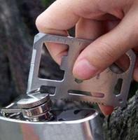 faca de cartão de crédito grátis venda por atacado-Atacado 50 pçs / lote Ferramenta Exército militar marinha Caça Kit de Sobrevivência de Bolso Cartão De Crédito Faca tamanho: 5.7 * 3.7 * 0.2 cm Frete Grátis