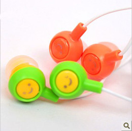 Wholesale Cheap Headphones For Pc - Free DHL Cheap Smile IN-EAR Headphone Colors Headset Headphones EARBUD FOR MP3 MP4 PC Laptop Cell SmartPhone with Retai Pack Factory Direct