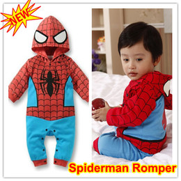 Wholesale Spiderman Onesie - Spiderman Baby Infant Kid Child Grow Onesie Bodysuit Romper Jumpsuit Coverall Outfit Cloth One-Piece