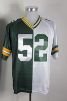 Wholesale American Football Jersey White - 2012 Elite American Football 52 Men Split Elite Jerseys Rugby Jersey Mix Order