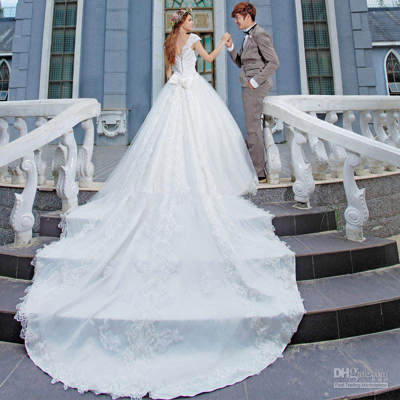 Wedding long dresses wedding ideas custom made bridal gowns off the shoulder beaded long tail wedding junglespirit Images