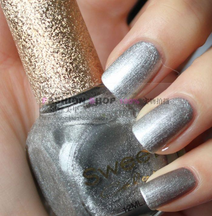 Sweet Color Green Nail Polish Shiny Elegant Pearl Silvery White 052 ...