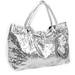 Wholesale Womens Cartoon Bags - Top!!! Shop elegant sequins handbag shoulder bag 3 colors womens new fashion hand+bag free shipping