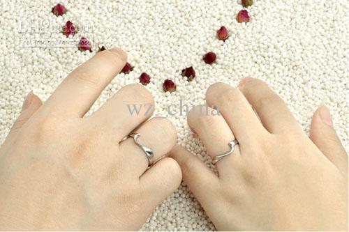 Anéis de noivado para mulheres 925 esterlina prata ouro chapeamento amor coração casamento anéis de banda para casal novo frete grátis