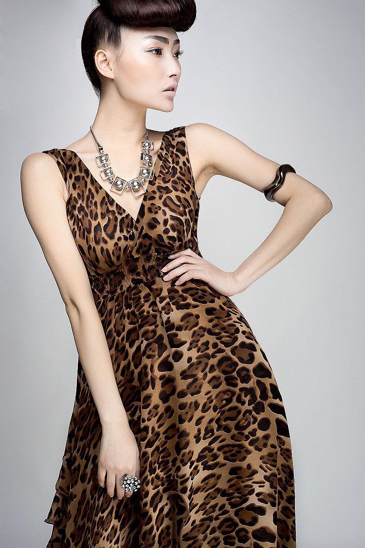 Abiti da donna abito da donna leopardato vestito maxi da sera abito da spiaggia bohemien 8808