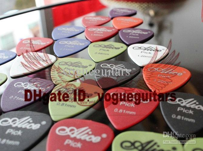 ALICE Bass Guitar Picks 0.58 0.71 0.81 0.96 1.2 1.5 Picaretas Guitarra Misteriosa WITHCASE frete grátis