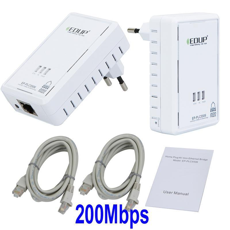 Edup Homeplug Av 200mbps Mini Wireless Ethernet Bridge Modem ...