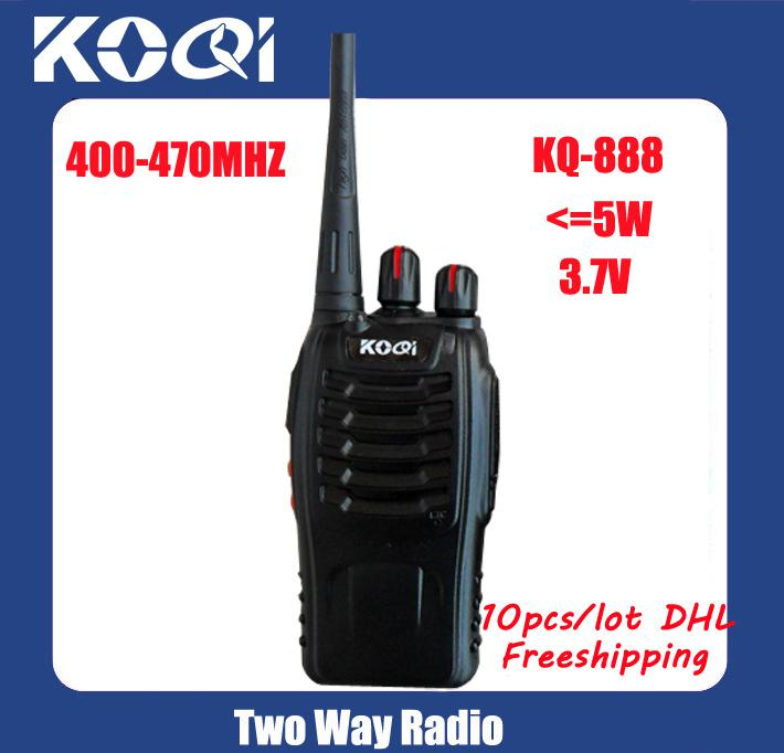 10pcs DHL Freeshipping + CTCSS / DCS + 5W Midland радио + UHF CB радио KOQI Walki talki
