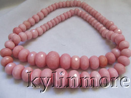 Wholesale Minerals Gemstones - 8SE09322a 10-20mm Pink Jade Faceted Rondelle Beads 15'' 1 piece