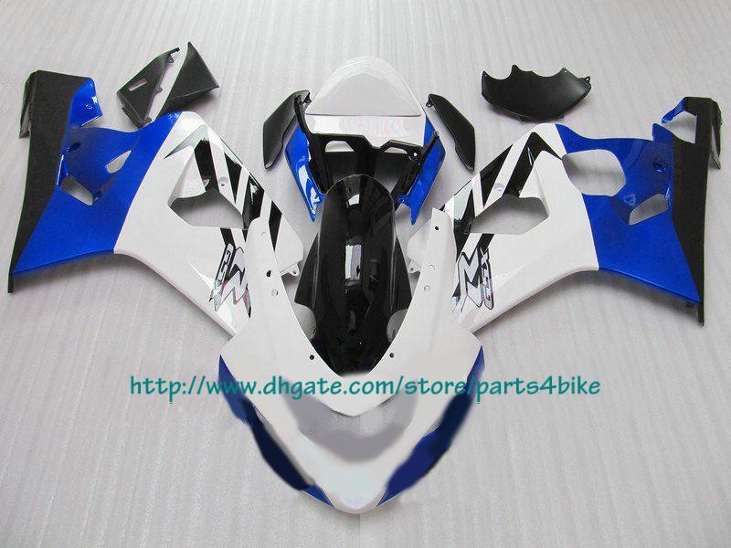 Populaire en Carénage bleu blanc Chine pour 2004 2005 GSX-R600 GSX-R750 GSXR 750 600 04 05 K4 RX6b a5 b5