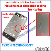 Wholesale Iphone 4s Middle Frame Plate - anti-static heat sink radiating heat cooling for iPhone 4s middle plate middle frame Free Shipping
