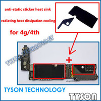 Wholesale Heat Sink Sticker - anti-static sticker heat sink radiating heat cooling for iPhone 4 logic board Free Shipping