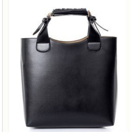Wholesale Cheap Brown Bags - Lady Handbags Tote Bags Shoulder Bags Black Tan Wine Color PU Leather Cheap Free Shipping 0311