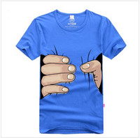 Wholesale Shirt Catch - Men's casual short sleeve T shirt was caught by the hand clothes lycra cotton short sleeve T-shirt