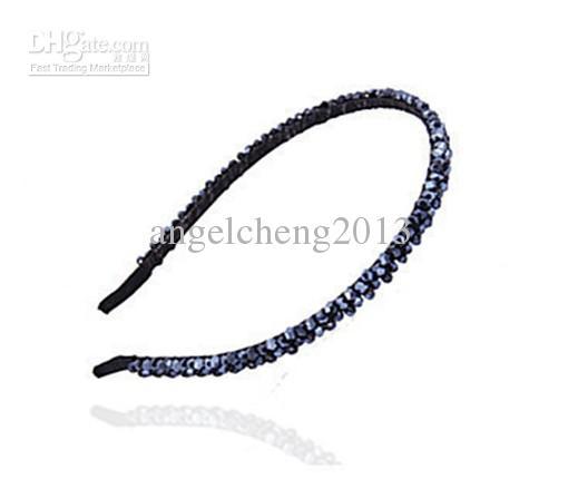 Headband de cristal do vintage / faixas de cabelo / cartão de cristal / cocar frisado asaorted 24 pçs / lote JZ-092