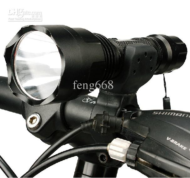 LED Mountain Bike Lights Rechargeable Lamp USB Bicycle Torch Front /& Rear Set US