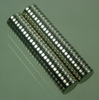 Venda por atacado 50pcs / lot 10x2mm disco Neodymium Permanent Strong Magnets Craft N52
