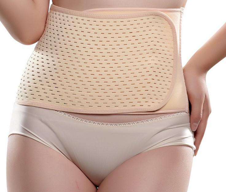 mesh breathable stomach belt postpartum corset waist support belt body underwear 100pcs