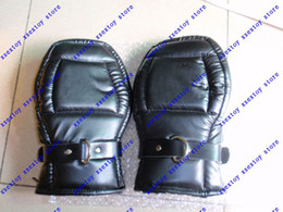 Wholesale Suspension Restraints - xsextoy PVC Leather Padded Suspension Mitts Restraints Handcuffs