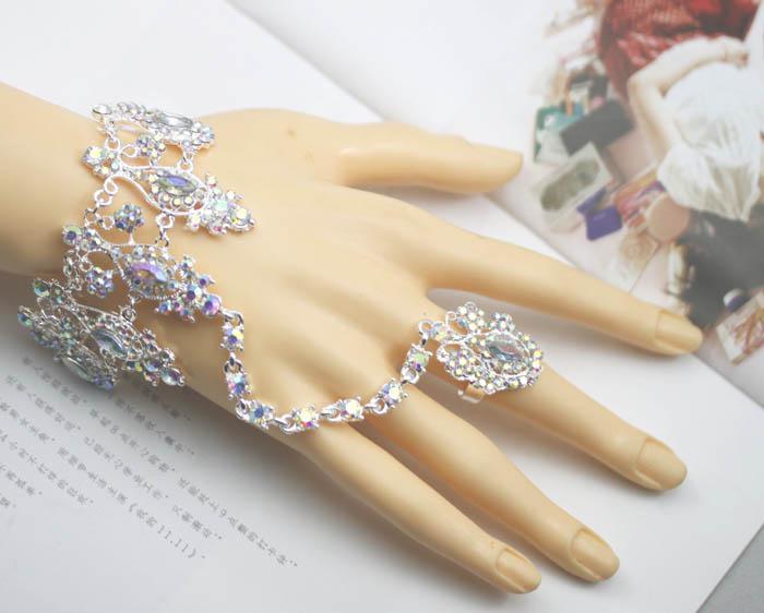 Crystal rings bracelet bridal jewelry artificial diamond bangle crystal rings bracelet bridal jewelry artificial diamond bangle bracelets ring bridal bracelets shopping for wedding shopping jewelry from shoponline134 junglespirit Choice Image