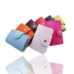 Wholesale Synthetic Leather Credit Card Holder 10 Colors 24pcs cards capacity Credit card Wallet Hot on Sale Free Shipping By fast express