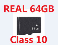 Wholesale 64 sd cards - Real 64GB Micro SD Memory Card Class 10 class10 Genuine 64 GB MicroSD SDHC TF cards w adapter