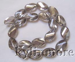 """Contas de vidro facetado oval on-line-8SE08457a 14x20mm Cristal de Vidro Facetado Torcido Oval Beads 16 """""""