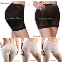 Wholesale Seamless Bottoms Up - Body Shaping Underwear Seamless Bottoms Up Underwear Bottom Pad Sexy Lingerie Buttock Up Panty 4size