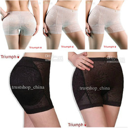Barato Calcinha Acolchoada Sem Costura-Body Shaping Underwear Seamless Bottoms Up Underwear Bottom Pad Sexy Lingerie Buttock Up Panty
